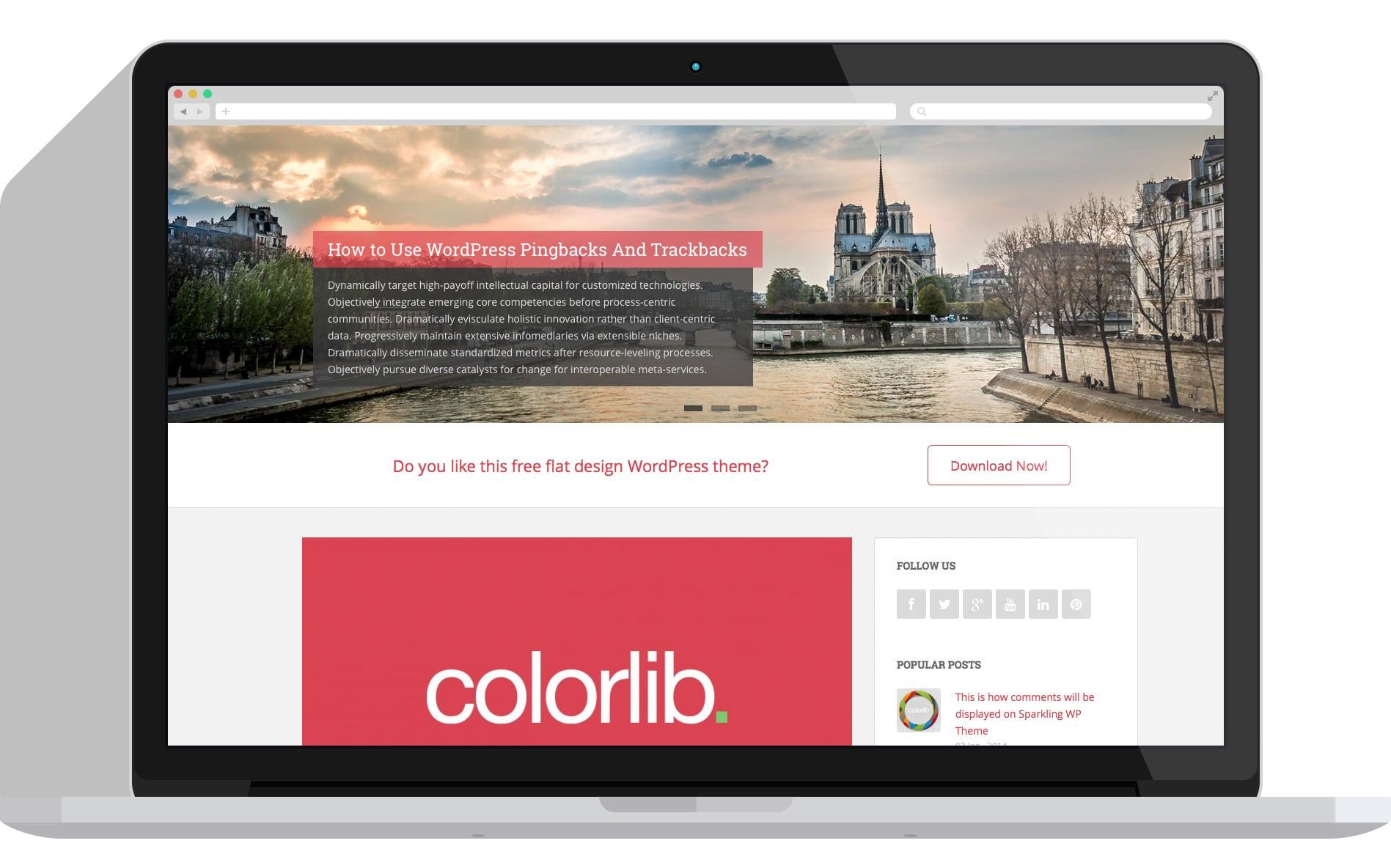 Sparkling - clean minimal WordPress theme