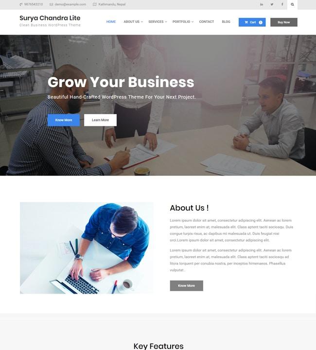 Surya Chandra - responsive WordPress theme