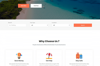 Travel Gem – Travel Website WordPress Theme