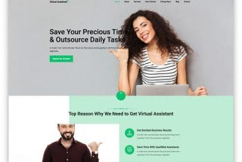 VirtualAssistant – Virtual Assistant Website HTML Template