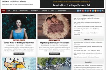 BoldWP – Blogging/News WordPress Theme