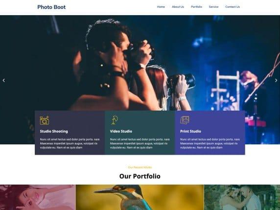 Bootstrap Photography - free WordPress theme