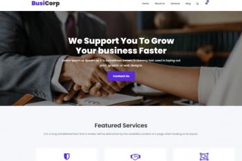 Busicorp – Multipurpose WordPress Theme
