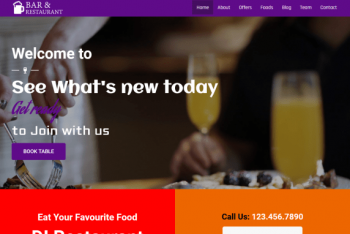 Cafe Restaurant – Free WordPress Theme