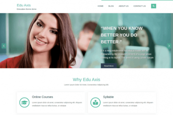 Edu Axis – Education Website WordPress Theme