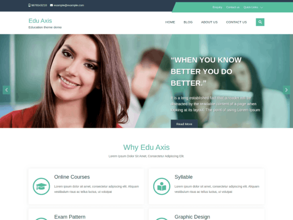Edu Axis - education website WordPress theme