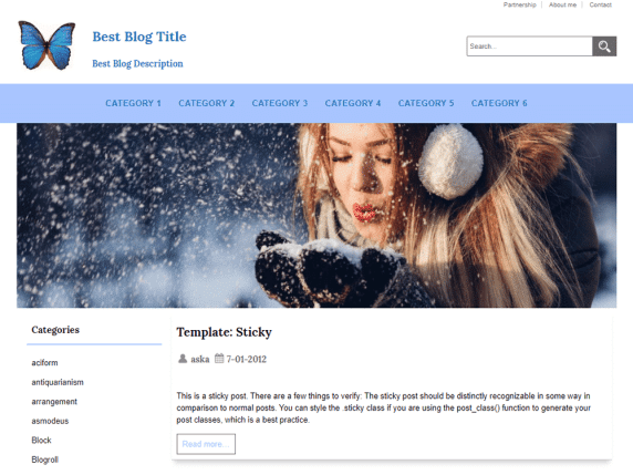 JL Best-Blog - WordPress theme