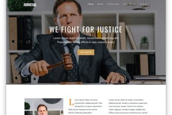 Judicial – Attorney Website HTML Template