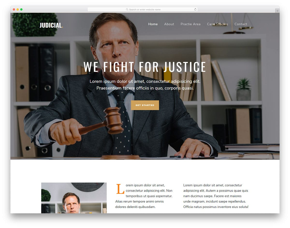 Judicial - attorney website HTML template