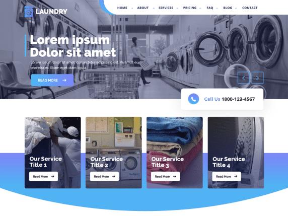 Laundry Master - laundry service website WordPress theme