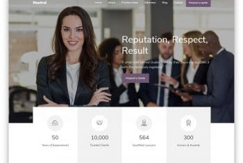 Neutral – One Page Law Firm Website Template