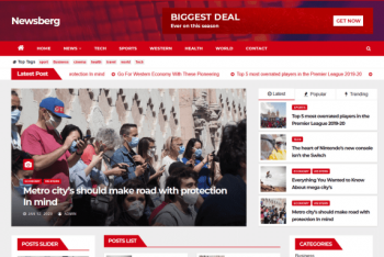 Bulletin News – News/Magazines Website Theme