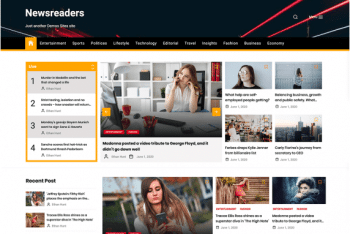 Newsreaders – Multi-Layout News WordPress Theme