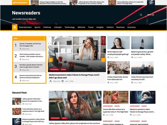 Newsreaders - Multi-Layout News WordPress Theme