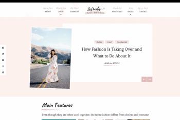 Sarada Lite WordPress Theme for Professional Websites