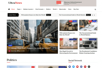 Ultra News – News/Magazine/Blog Website Theme