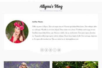 Alyssa's Blog – A Minimal & Responsive WordPress Theme for Free