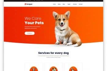 Anipat – Pet Care Website HTML Template