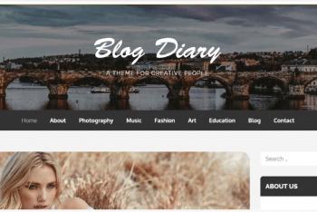 Blog Diary – A Free WordPress Blog Theme