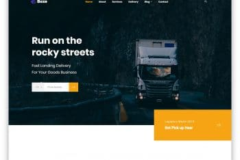 Boxe – Trucking Website HTML Template (Free Download)