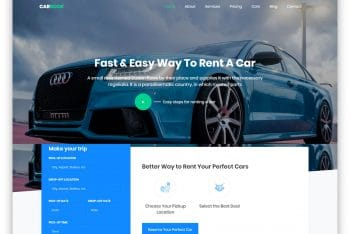 Carbook – Car/Taxi Rental Website HTML Template