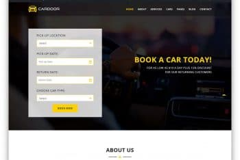 Cardoor – Car/Taxi Rental Website HTML Template