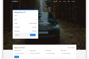 Carrent – Car/Taxi Rental Website HTML Template