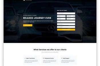 CarRentals – Car/Taxi Rental Website HTML Template