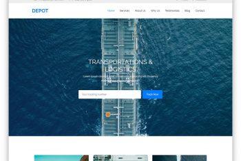 Depot – One Page Transportation Website HTML Template