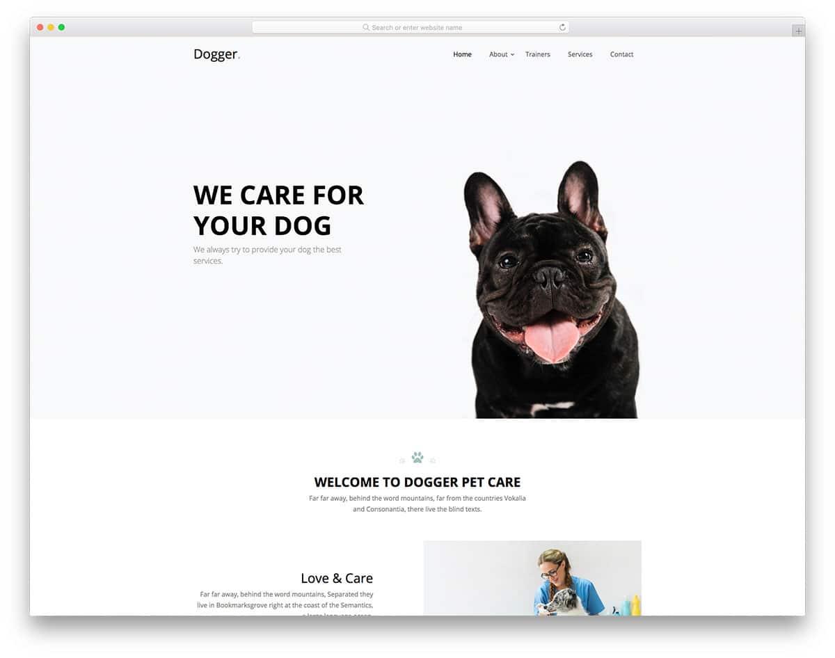 Dogger - dog care website HTML template