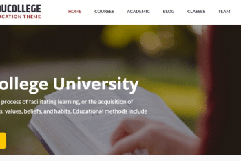 Educollege – A Free WordPress Theme for Educational Websites
