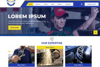 Expert Mechanic – A Free Resourceful WordPress Theme