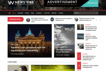 News Vibe – A Free WordPress Magazine Theme