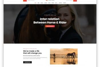 Horse Club – Horse-Related Website HTML Template