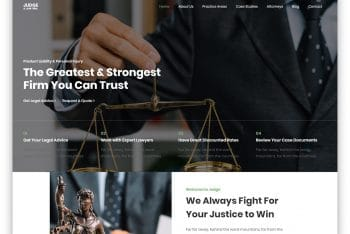 Judge – Law Services Website HTML Template