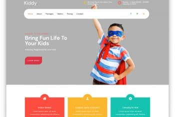 Kiddy – Kids Centered HTML Website Template