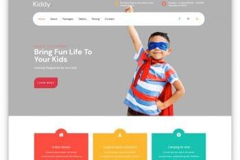 Kiddy – Kids Centered HTML Website Template