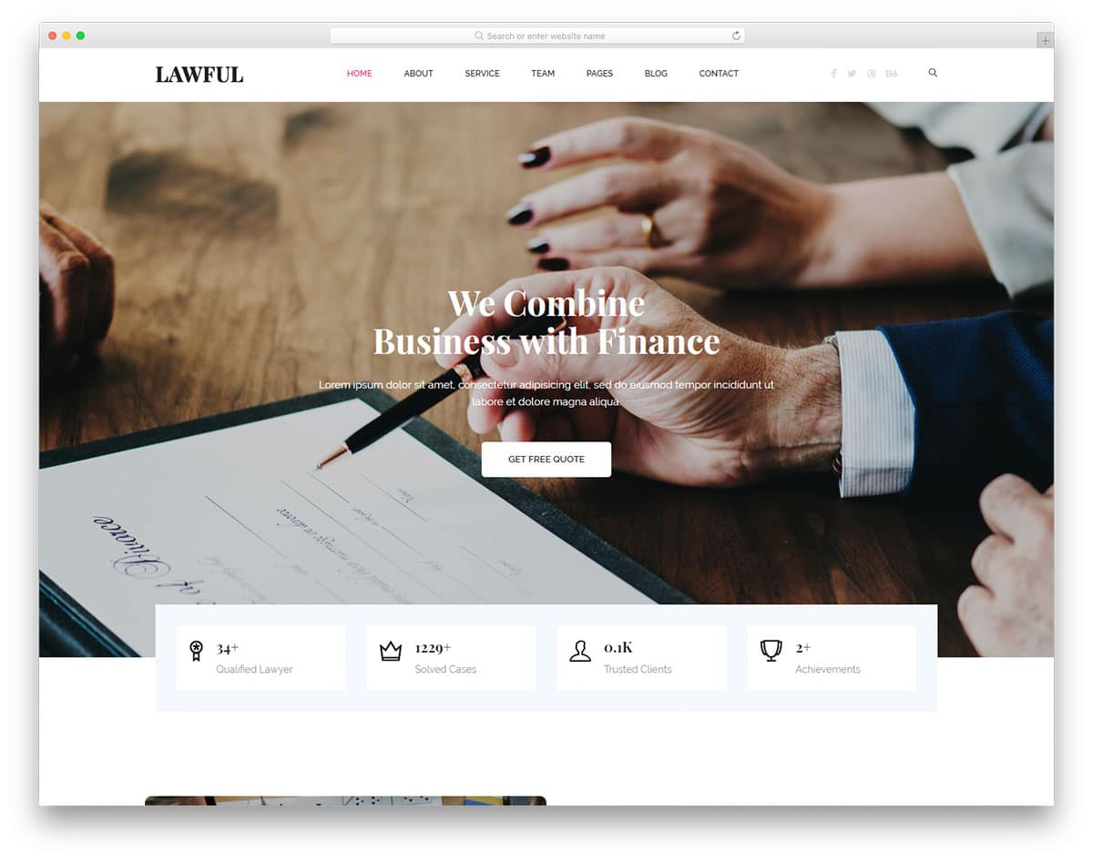 Lawful - legal website HTML template