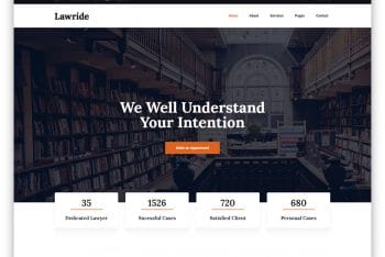 Lawride -Law Office Website HTML Template (Free Download)