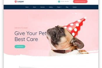 Leopet – Animal Care Website HTML Template (Free Download)