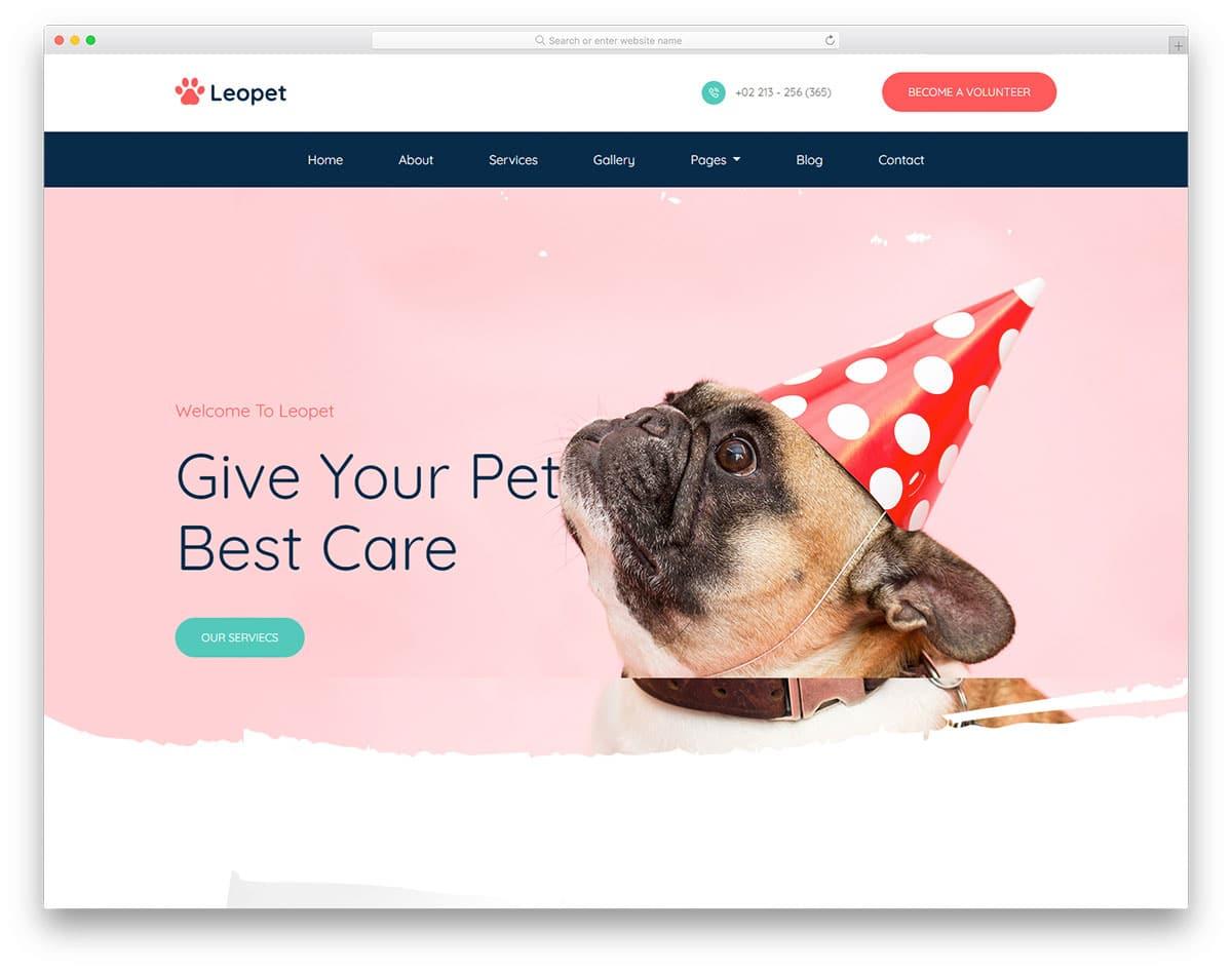 Leopet - animal care website HTML template