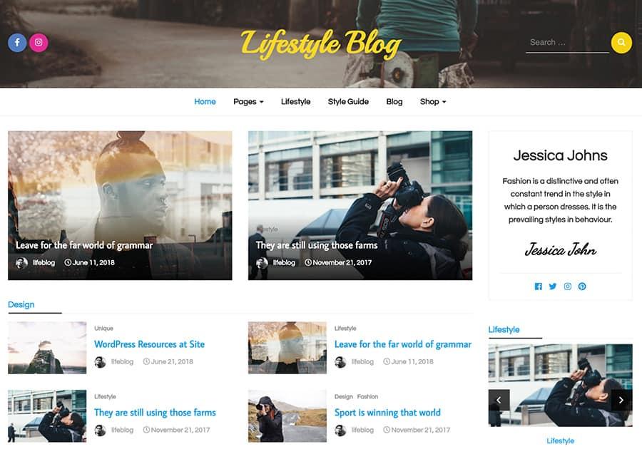 Lifestyle Blog - responsive WordPress theme