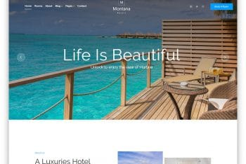Montana – Free Resort Website HTML Template