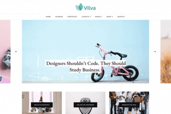 Vilva – A Free Multipurpose WordPress Blog Theme