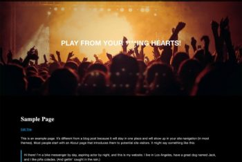 Bands – Free WordPress Theme for Bands, Musicians & Other Audio Artists