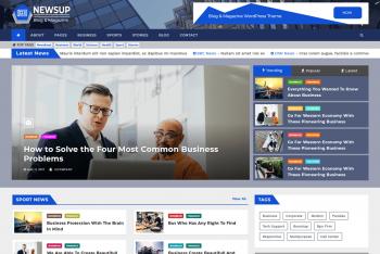 Newsup – Free WordPress Theme for News, Blogs & Magazines Websites
