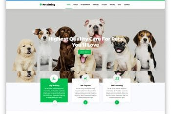 PetSitting – Pet Website HTML Template (Free Download)