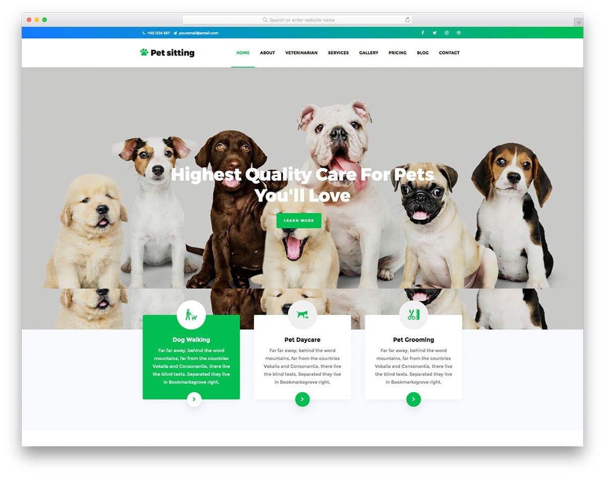 PetSitting - pet website HTML template