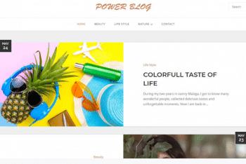 Power Blog – Simple WordPress Blog Theme for Free