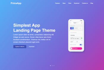 PrimaApp – A Landing Page WordPress Theme